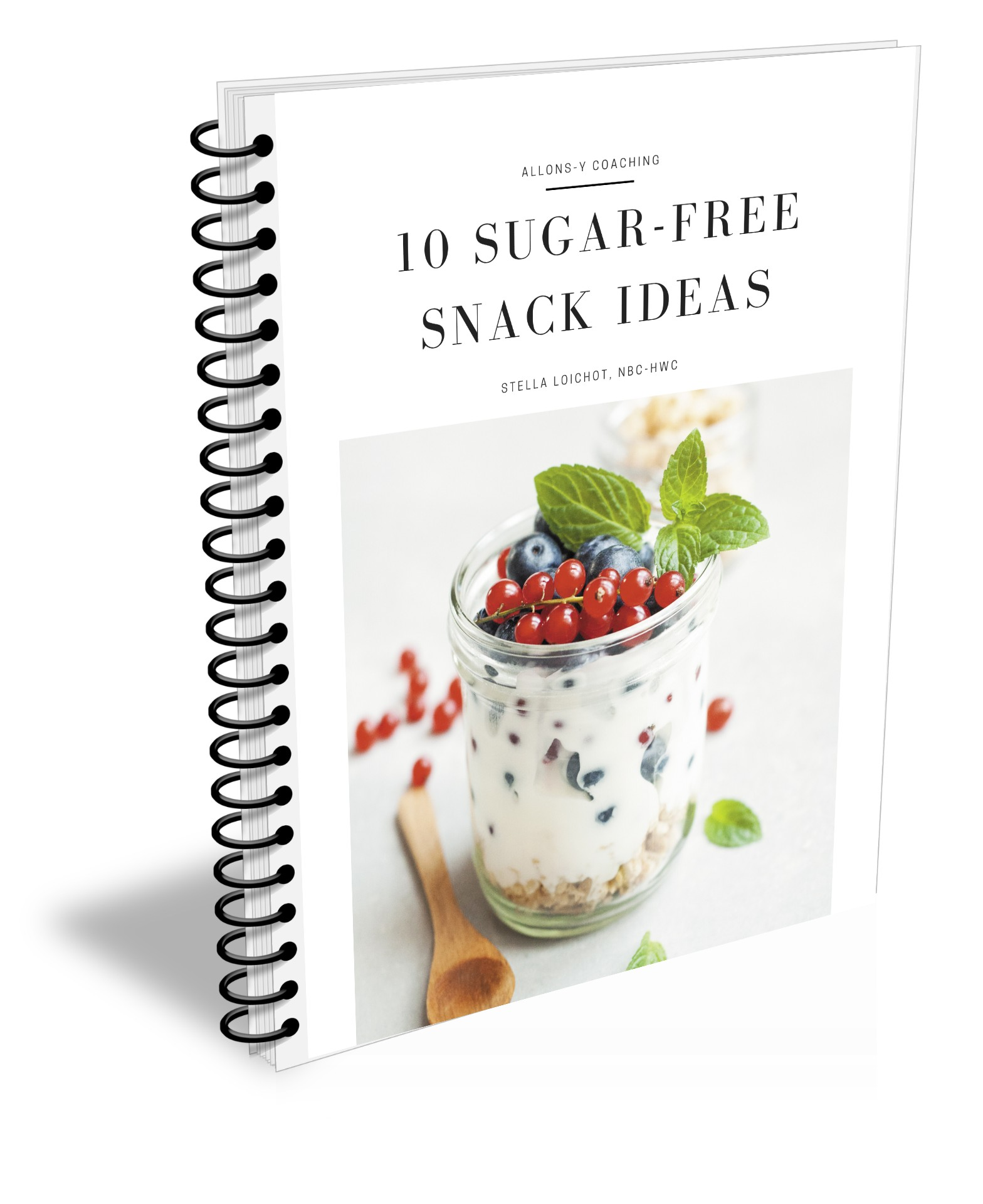 10 Sugar Free Snack Ideas Booklet Cover